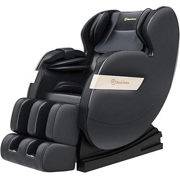 Real Relax Massage Chair, Full Body Zero Gravity Shiatsu Recliner
